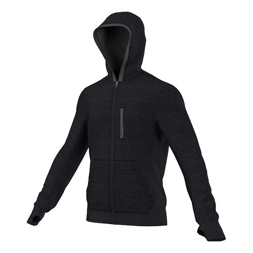Mens adidas Supernova Beyond The Run Hoodie Outerwear Jackets - Dark Grey Heather S