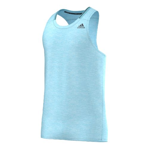 Mens adidas Supernova Singlet Tank Technical Tops - Clear Blue White M