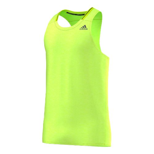 Mens adidas Supernova Singlet Tank Technical Tops - Solar Yellow M