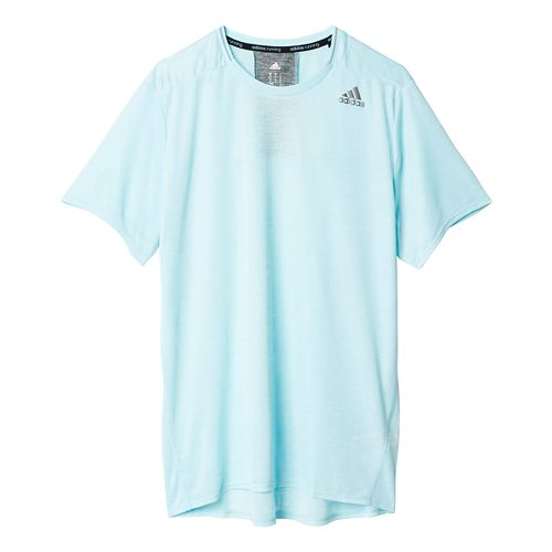 Mens adidas Supernova Tee Short Sleeve Technical Tops - Frozen Blue XL