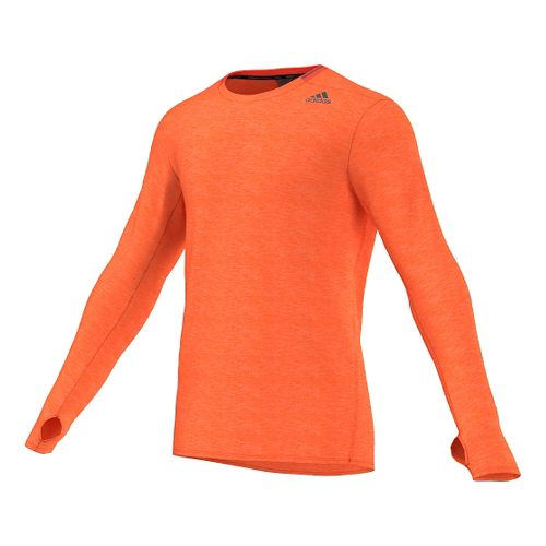 Mens Adidas Supernova Tee Long Sleeve No Zip Technical Tops - Solar Red L