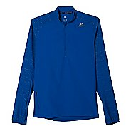 Mens adidas Supernova Storm Half Zip Long Sleeve Technical Tops