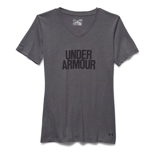 Women's Under Armour�Charged Cotton Tri-Blend Wordmark V-Neck