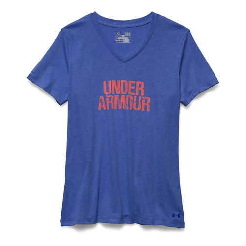 Women's Under Armour�Charged Cotton Tri-Blend Wordmark V-Neck