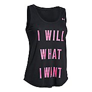 Womens Under Armour I Will What I Want Tank Technical Tops