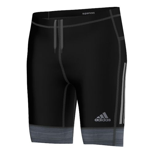 Mens adidas Supernova Tight Unlined Shorts - Black/Solid Grey XL