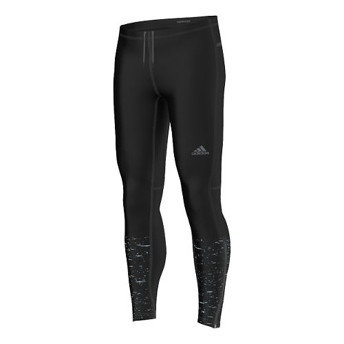 Mens adidas Supernova Reflective Graphic Long Full Length Tights - Black XL