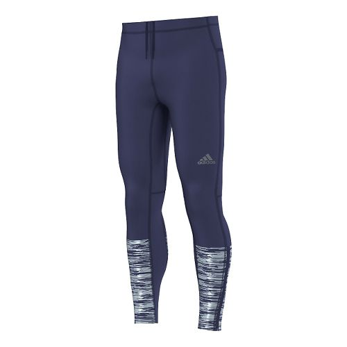 Mens adidas Supernova Reflective Graphic Long Full Length Tights - Midnight Indigo M