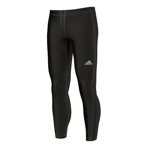 Mens adidas Sequencials Climaheat Brushed Long Full Length Tights - Black L