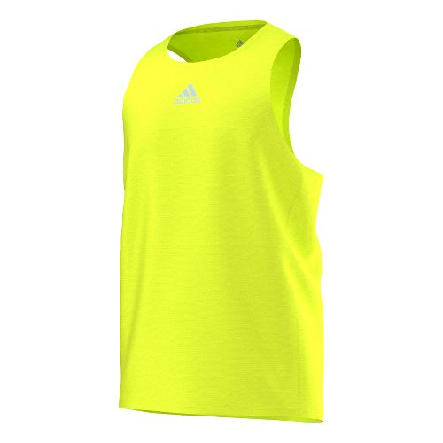 Mens adidas Sequencials Money Singlet Tank Technical Tops - Solar Yellow M
