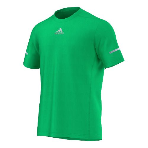 Mens adidas Sequencials Money Tee Short Sleeve Technical Tops - Flash Lime S