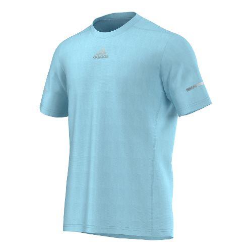 Mens adidas Sequencials Money Tee Short Sleeve Technical Tops - Frozen Blue XL