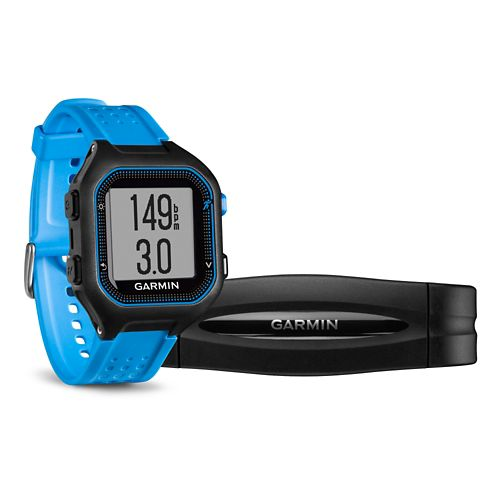 Garmin Forerunner 25 GPS with HRM Monitors - Blue L