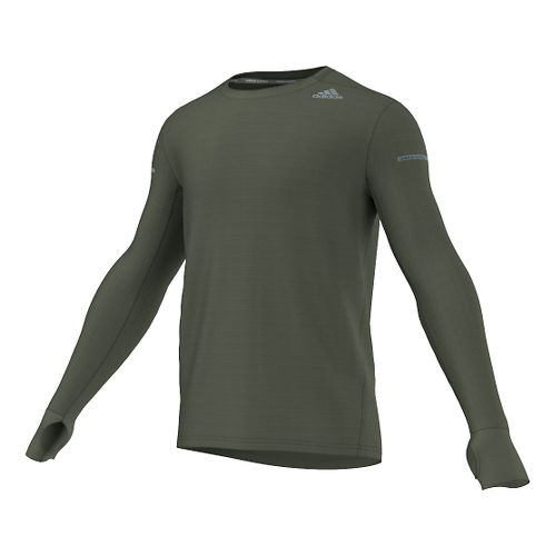 Men's Adidas�Sequencials Heathered Long-Sleeve Tee