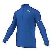 Mens adidas Sequencials CC Long Sleeve Half Zip Technical Tops