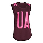 Womens Under Armour BFE Big UA Stripe Short Sleeve Technical Tops