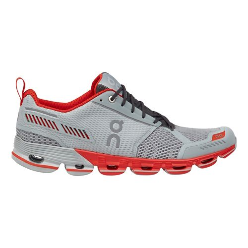 Mens On Cloudflyer Running Shoe - Glacier/Spice 11.5