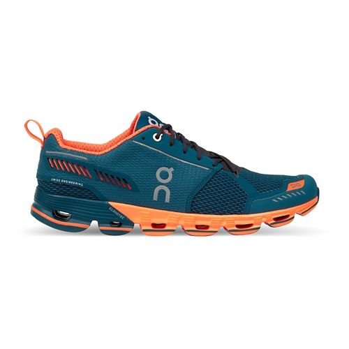 Mens On Cloudflyer Running Shoe - Storm/Orange 10.5