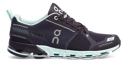 Womens On Cloudflyer Running Shoe - Grey/Mint 10.5