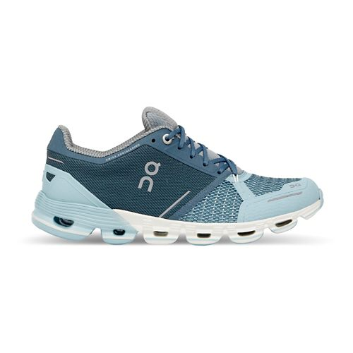 Womens On Cloudflyer Running Shoe - Aqua/Crystal 7