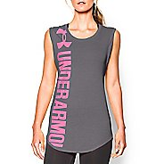 Womens Under Armour Vertical Logo Tunic Short Sleeve Technical Tops