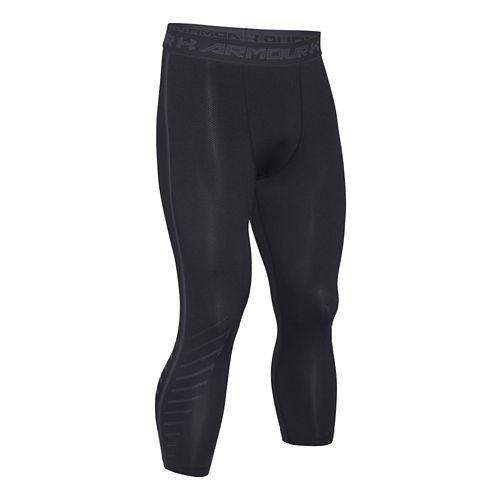 Mens Under Armour HeatGear EXO 3/4 Compression Legging Capri Tights - Black M