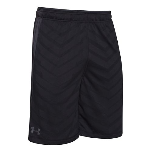 Mens Under Armour EXO Raid Unlined Shorts - Black/Grey L