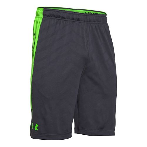 Mens Under Armour EXO Raid Unlined Shorts - Grey/Green XL