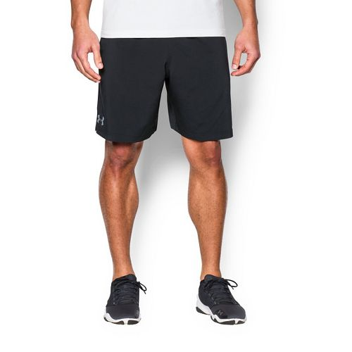 Mens Under Armour Hiit Woven Compression & Fitted Shorts - Black/Steel XL