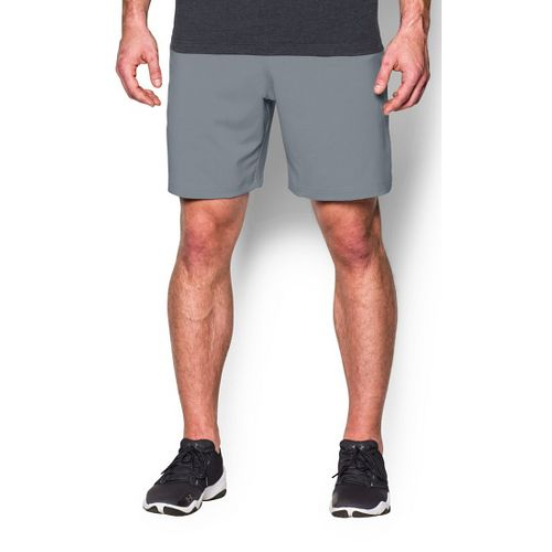 Mens Under Armour Hiit Woven Compression & Fitted Shorts - Steel/Black L