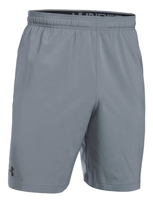 Mens Under Armour Hiit Woven Compression & Fitted Shorts - Steel S