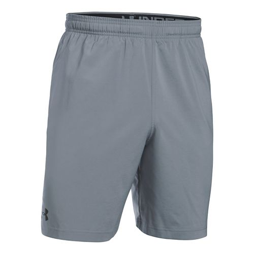 Mens Under Armour Hiit Woven Compression & Fitted Shorts - Steel XL