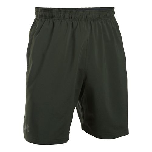 Mens Under Armour Hiit Woven Compression & Fitted Shorts - Artillery Green M