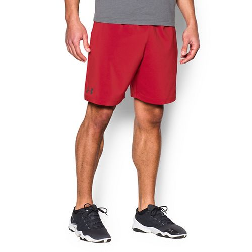 Mens Under Armour Hiit Woven Compression & Fitted Shorts - Red XL