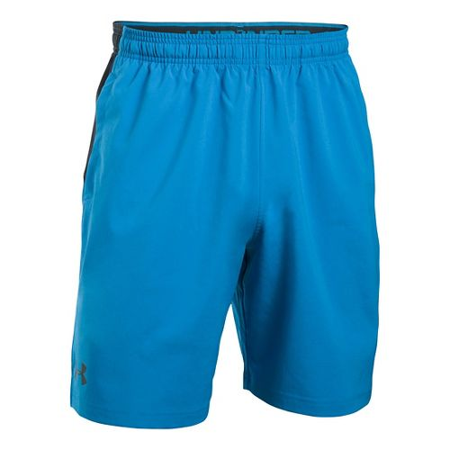 Mens Under Armour Hiit Woven Compression & Fitted Shorts - Brilliant Blue S