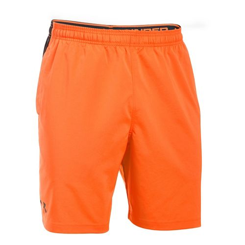 Mens Under Armour Hiit Woven Compression & Fitted Shorts - Beta Orange XXL
