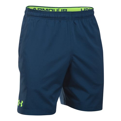Mens Under Armour Hiit Woven Compression & Fitted Shorts - Blackout Navy M