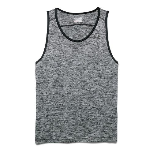 Mens Under Armour Tech Sleeveless & Tank Technical Tops - Red/Graphite L