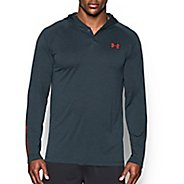 Mens Under Armour Tech Popover Henley Long Sleeve Technical Tops
