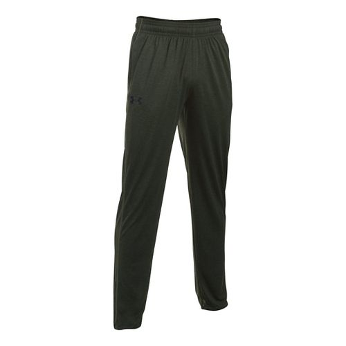 Mens Under Armour Tech Pants - Army Green/Black L