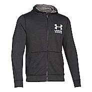 Mens Under Armour Tri-Blend Fleece Full Zip Hoody Long Sleeve Technical Tops