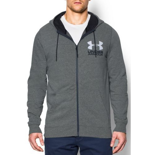 Mens Under Armour Tri-Blend Fleece Full Zip Hoody Long Sleeve Technical Tops - Greyhound ...