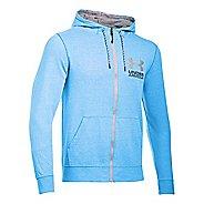 Mens Under Armour Tri-Blend Fleece Full Zip Hoody Long Sleeve Technical Tops