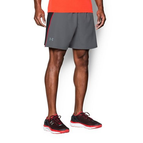 Mens Under Armour Coolswitch Run Compression & Fitted Shorts - Graphite/Black XL