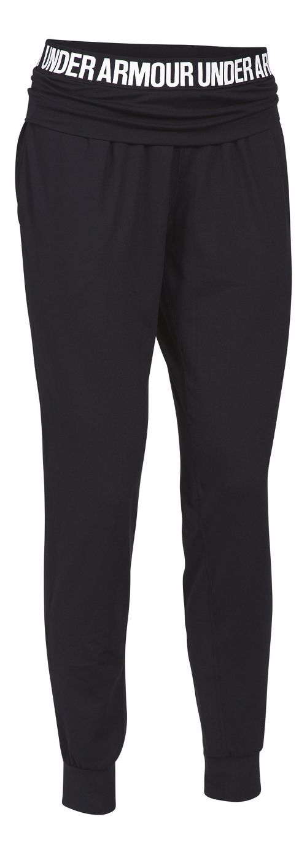 Womens Under Armour Downtown Knit Jogger Pants - Black/Silver L
