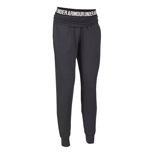 Womens Under Armour Downtown Knit Jogger Pants - Grey/Pewter L