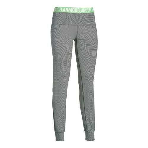Womens Under Armour Downtown Knit Jogger Pants - Black/White XL