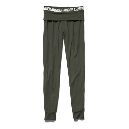 Womens Under Armour Downtown Knit Jogger Full Length Pants - Downtown Green L