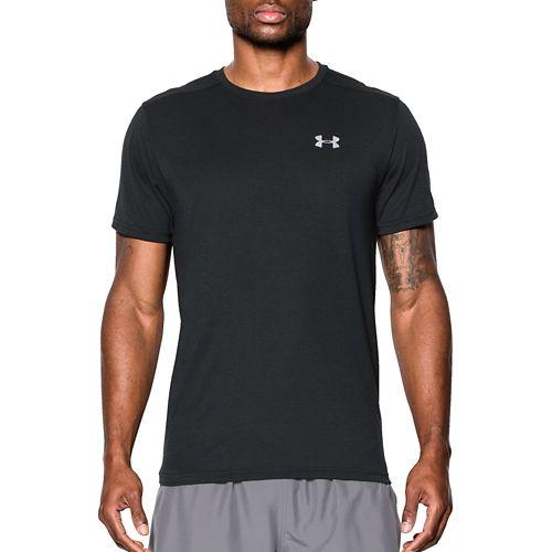 Mens Under Armour Streaker Tee Short Sleeve Technical Tops - Black L