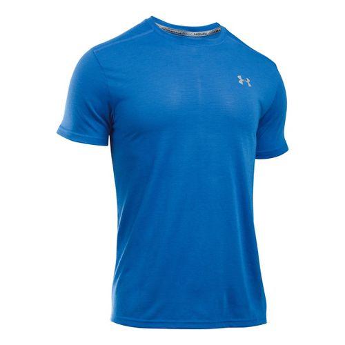 Mens Under Armour Threadborne Streaker Short Sleeve Technical Tops - Ultra Blue L